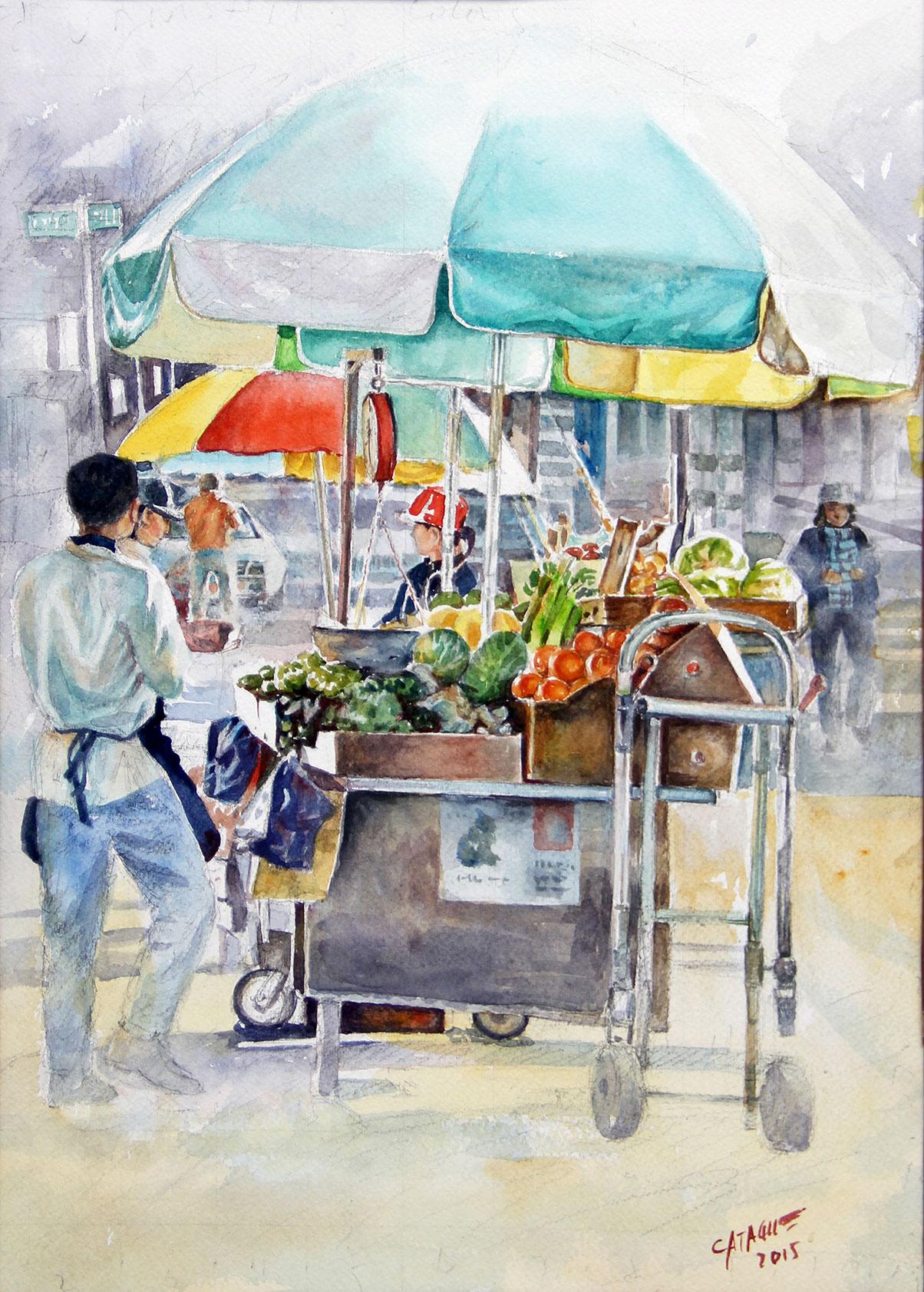 Fernando Catague, Sidewalk Vendor
