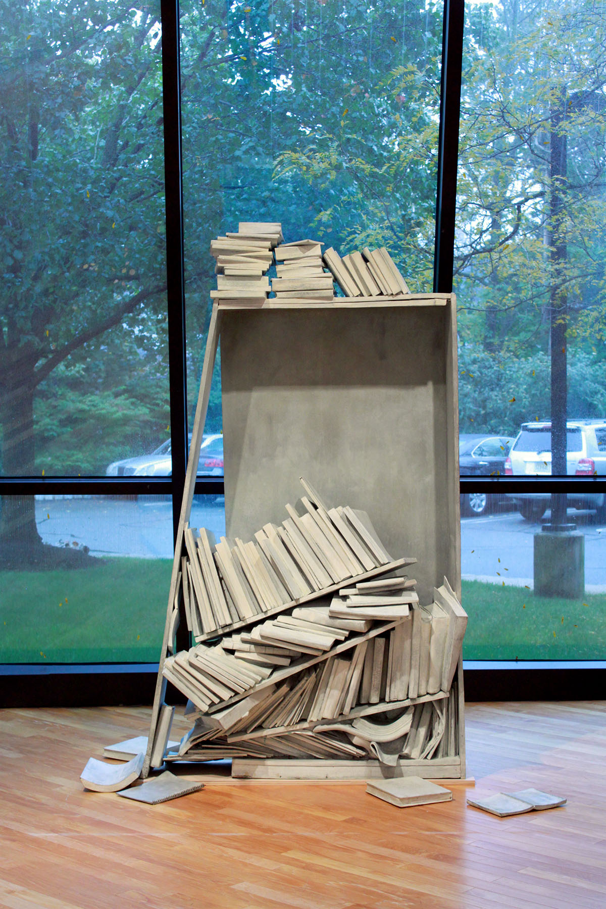 """Ruined Bookshelf"" by Judith Tallichet"