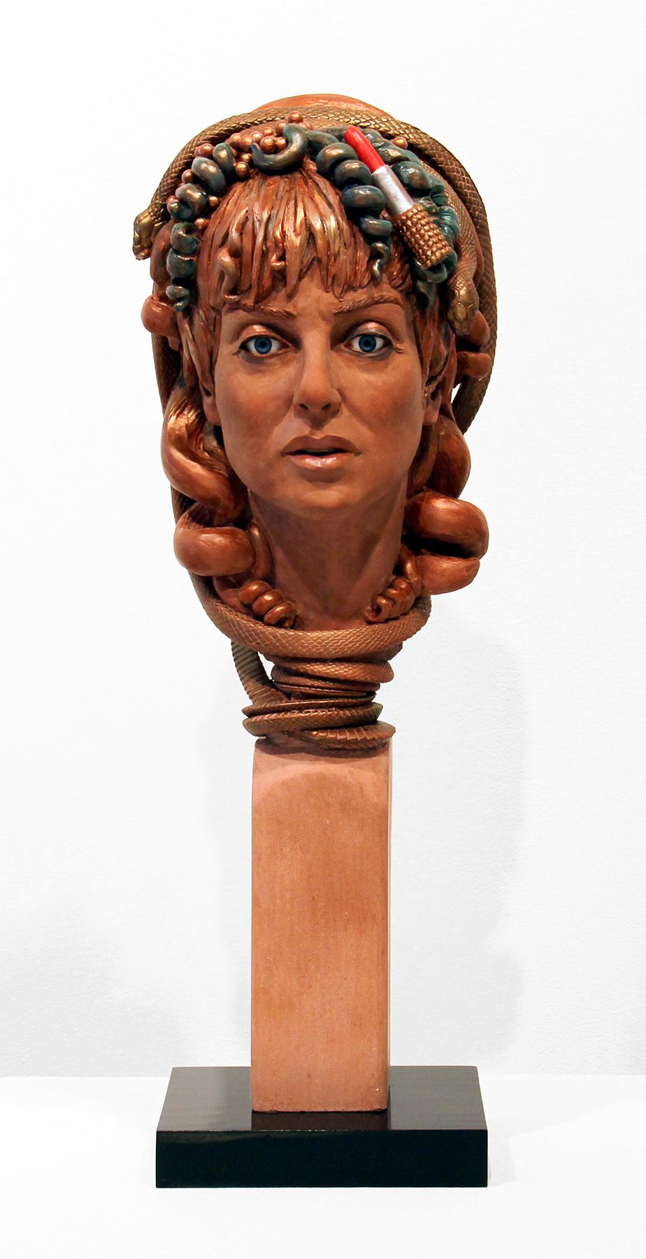 Audrey Flack, Self-portrait as Lipstick Medusa