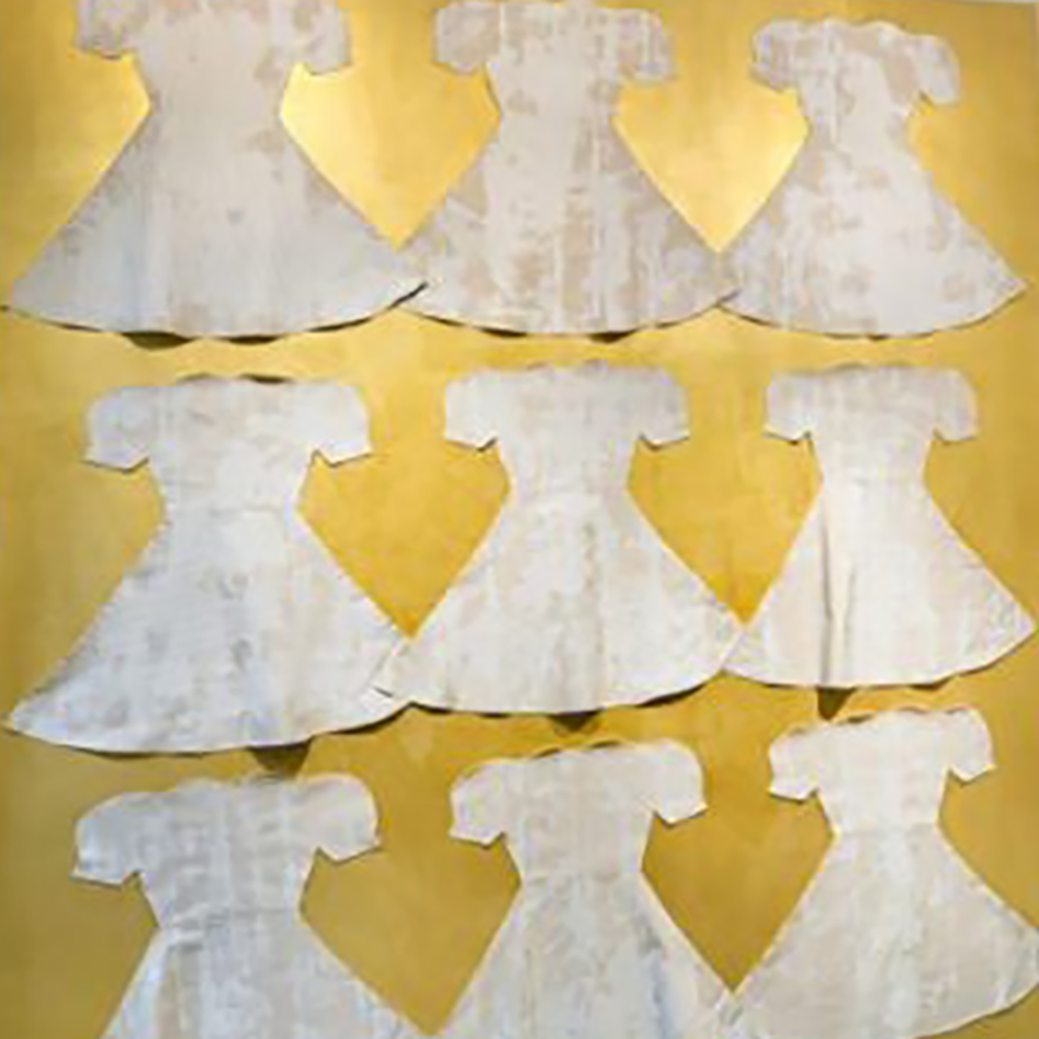 White Dress Narratives Installation