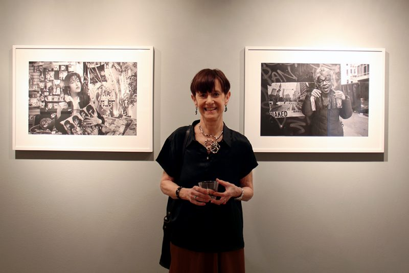 """artist Judith Henry at her opening of """"Me as Her"""" exhibition"""