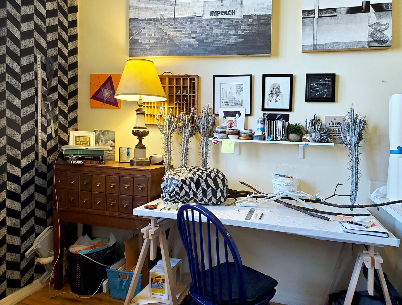 Anne Muntges home studio