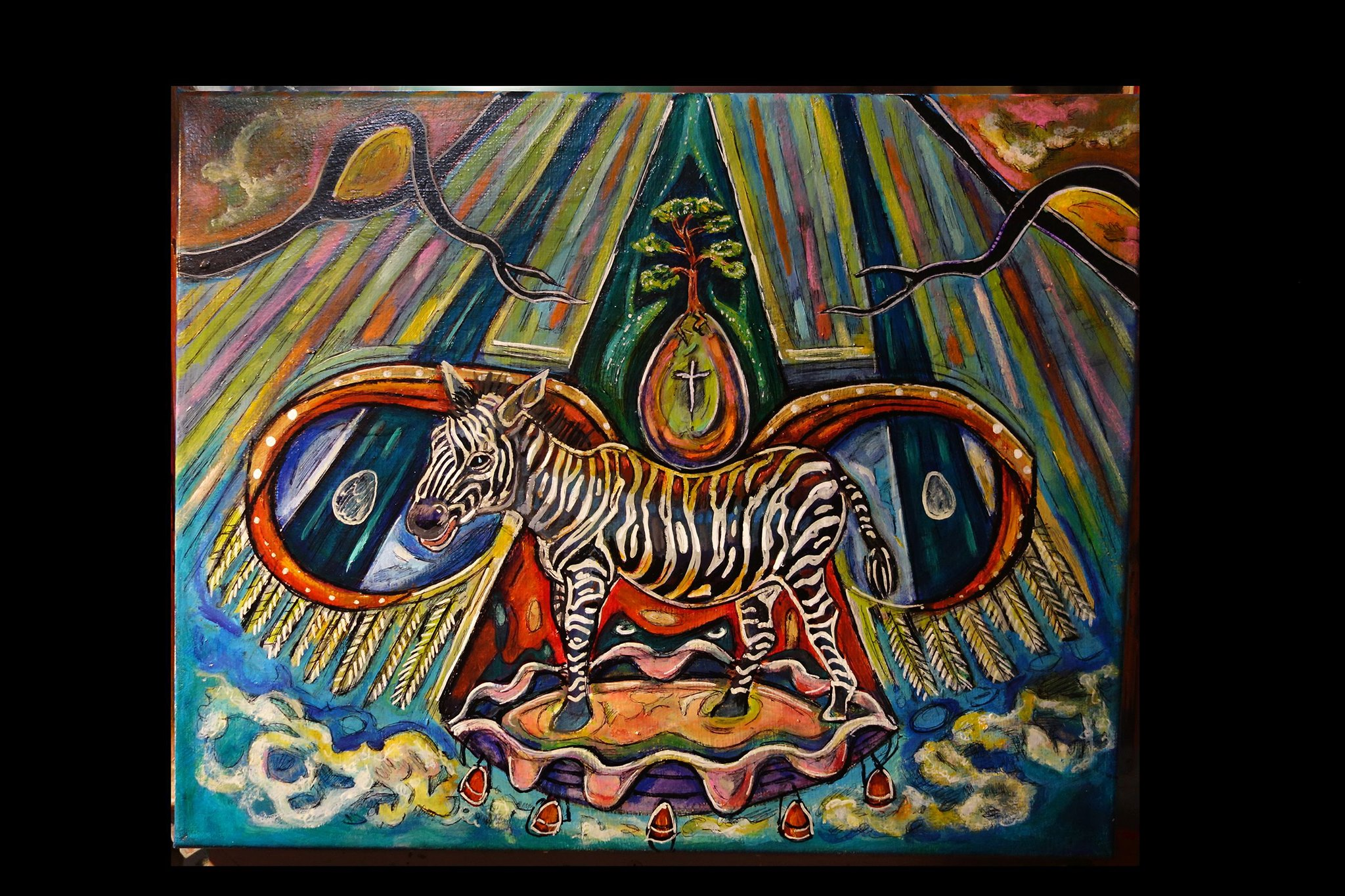 Goddess of the Jungle and the Zebra by Kevin Blythe Sampson