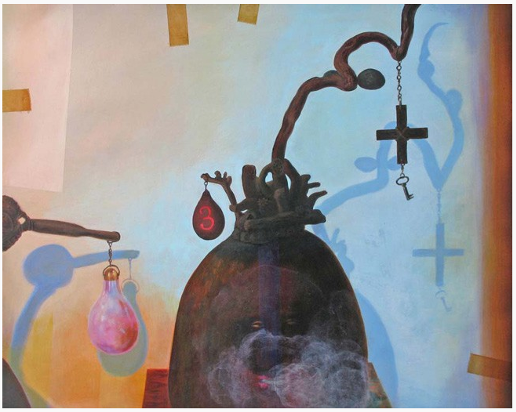 image of Elegba and the Pearl Gourd by Renee Stout