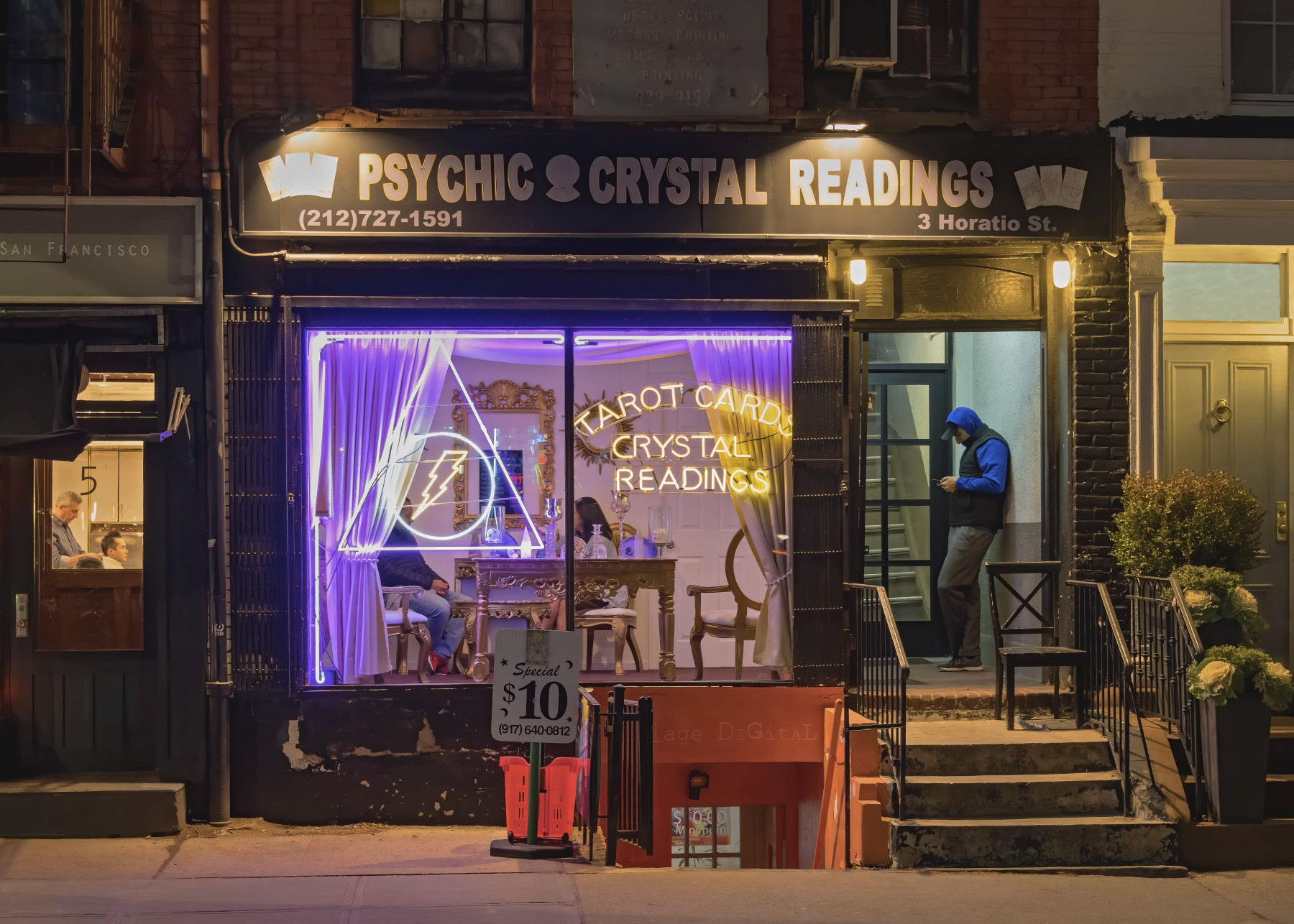 """image of Ken Curtis's piece """"Psychic Readings"""""""