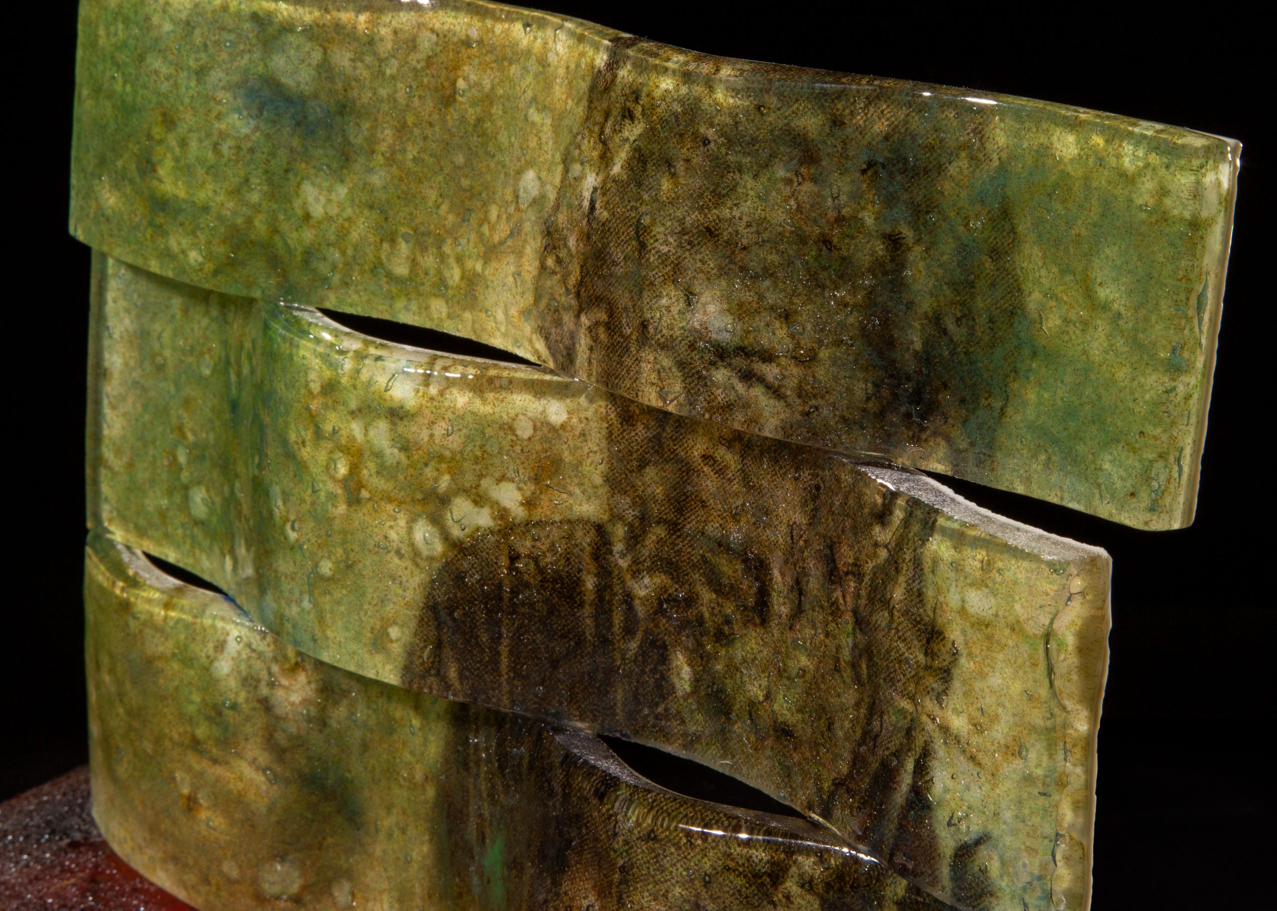 "detail of Russ Wills's piece ""Emerge"""