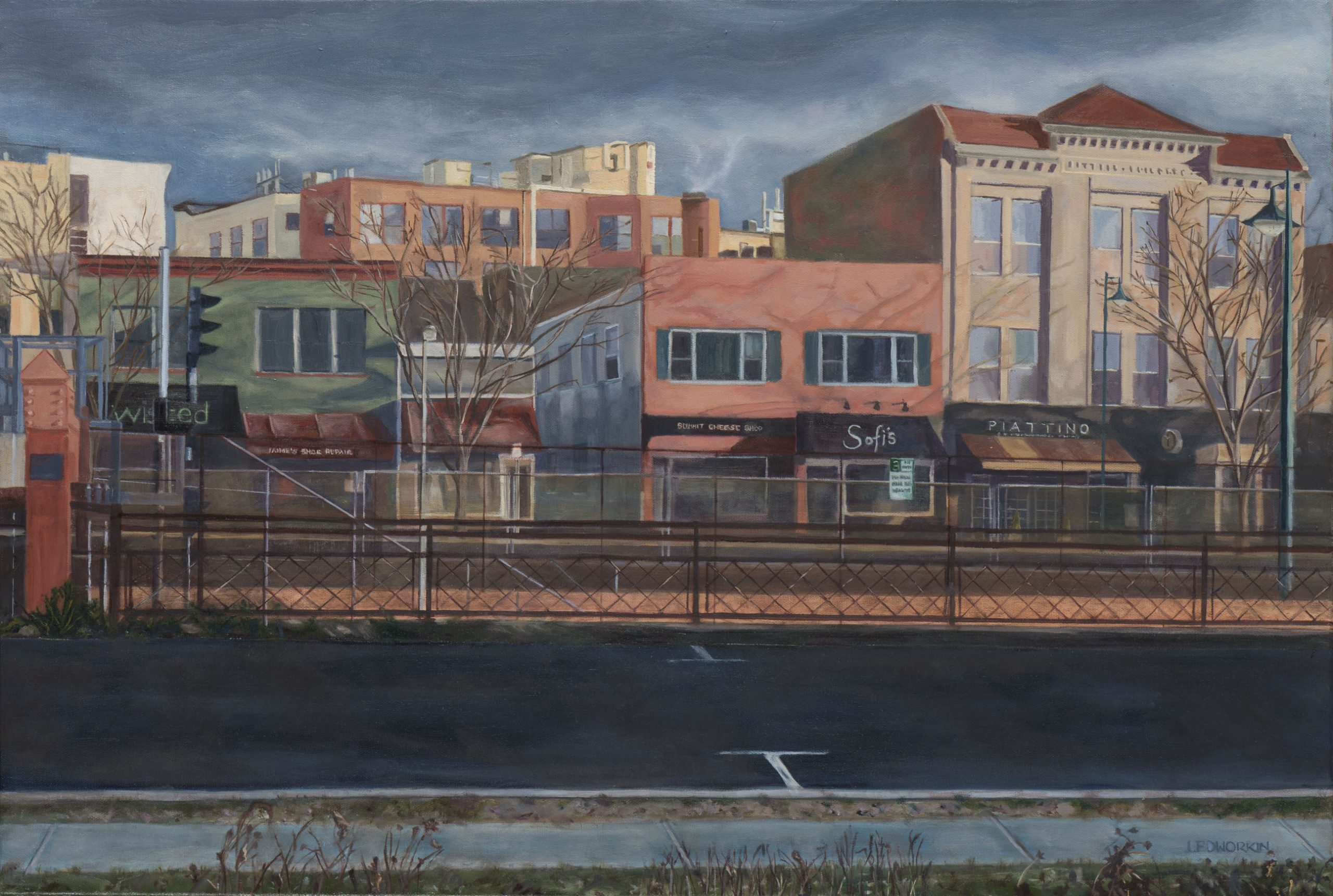 Artwork Union Place: Winter Morning by Lisa Dworkin