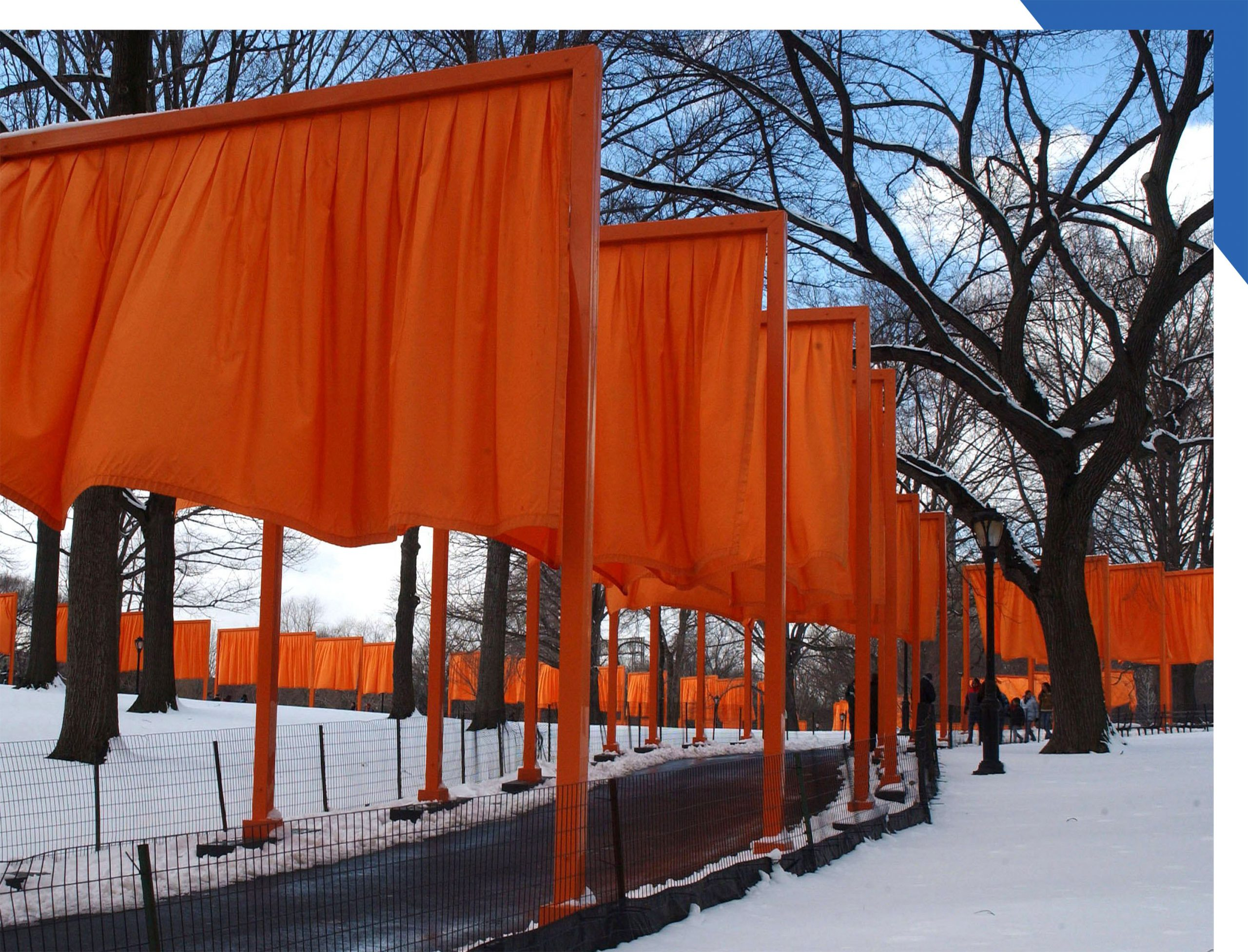 A view of the Gates installation in Central Park