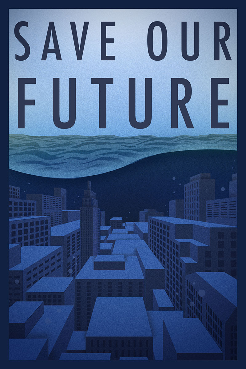 Artwork Save Our Future by Sofia Rodriguez