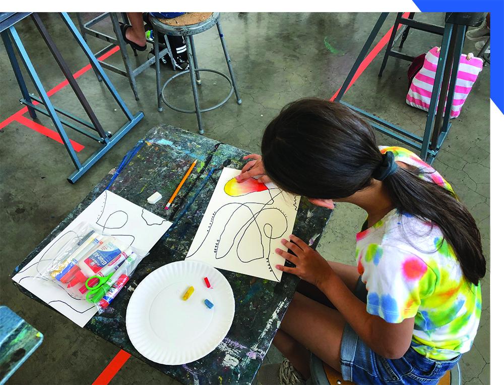 Masked Tween Making Art