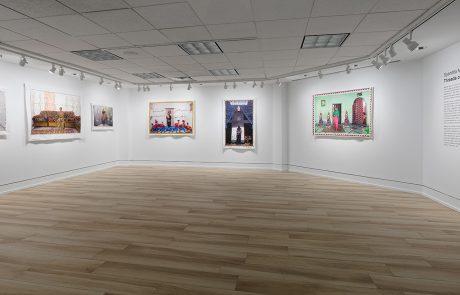 Installation view of Spandita Malik's show Threads of Identity