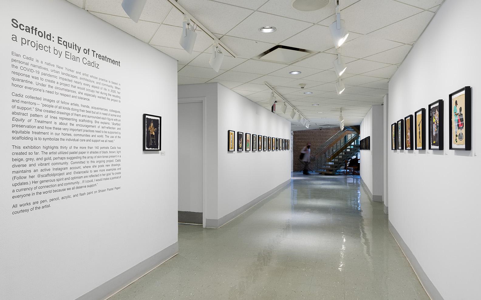 Installation view of Elan Cadiz's works