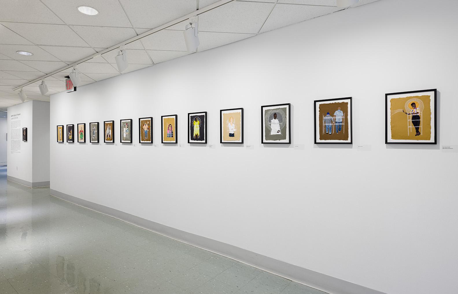 Installation view of Elan Cadiz's work