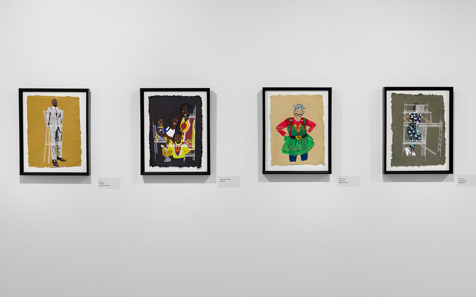 Installation view of Elan Cadiz's exhibition