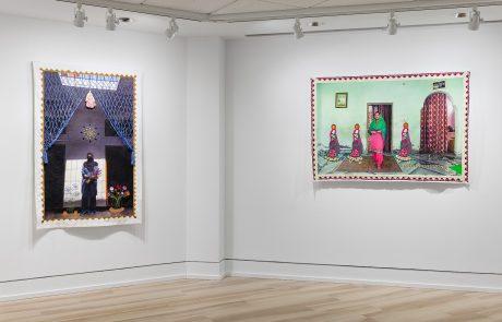 Installation view of Spandita Malik: Threads of Identity