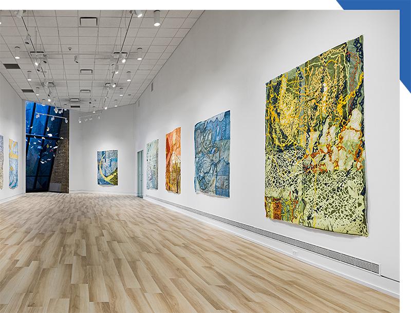 Nancy Cohen artwork installed in the Art Center Main Gallery.